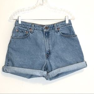 Levis Vintage 550 High Waist Relaxed Fit Shorts